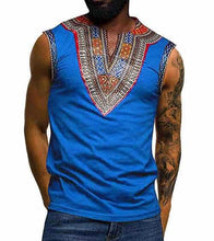 Load image into Gallery viewer, African Men Dashiki Vest M-3XL - Chocolate Boy Ltd