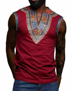 African Men Dashiki Vest M-3XL - Chocolate Boy Ltd