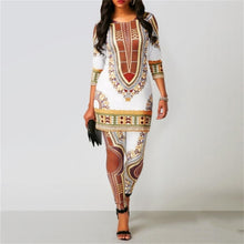 Load image into Gallery viewer, Women's Top & Pants Suit Dashiki Print Ladies Clothes Robe Fashion Clothing - Chocolate Boy Ltd