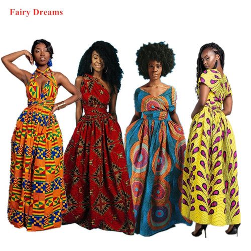 Long African Dress Women Traditional African Clothing Dashiki Ankara Maxi Dresses