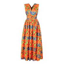 Load image into Gallery viewer, Long African Dress Women Traditional African Clothing Dashiki Ankara Maxi Dresses - Chocolate Boy Ltd