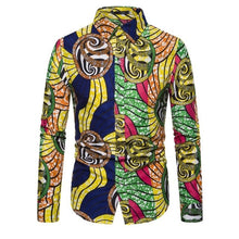 Load image into Gallery viewer, Long Sleeve Tribal African Shirt for Women/Men - Chocolate Boy Ltd