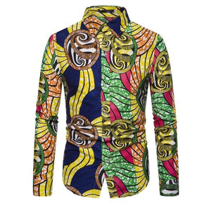 Long Sleeve Tribal African Shirt for Women/Men - Chocolate Boy Ltd