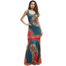 Load image into Gallery viewer, African Dashiki Outfits Dresses For Women Maxi Ankara Dress African Women Gowns Long Dress - Chocolate Boy Ltd