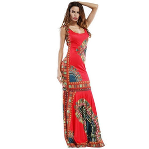 African Dashiki Outfits Dresses For Women Maxi Ankara Dress African Women Gowns Long Dress