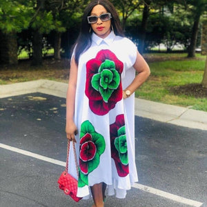 African Dresses For Women African Clothes Print Dashiki Ladies Ankara Plus Size Africa Women Dress