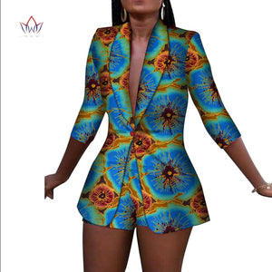 New Women Suit and Short Pants Sets African Clothes 2 Pieces Sets