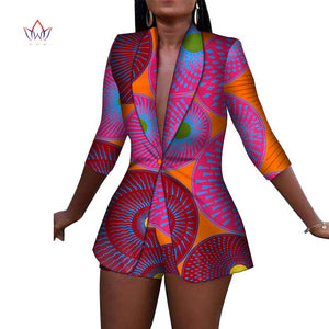 New Women Suit and Short Pants Sets African Clothes 2 Pieces Sets - Chocolate Boy Ltd