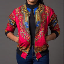 Load image into Gallery viewer, African Ankara Print Four Season Long Sleeve Casual Jacket Traditional Tribal
