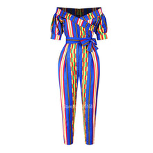 Load image into Gallery viewer, African Clothes Ladies Robe African Jumpsuit Plus Pant Dashiki Fashion