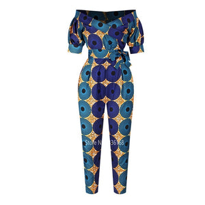 African Clothes Ladies Robe African Jumpsuit Plus Pant Dashiki Fashion - Chocolate Boy Ltd