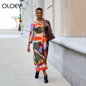 African Traditional Tribal Dashiki Dresses For Women Lady Africa Clothing