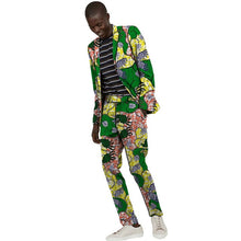 Load image into Gallery viewer, African Suits Men Print Casual Blazers For Wedding Ankara Fashion Pant Suits - Chocolate Boy Ltd