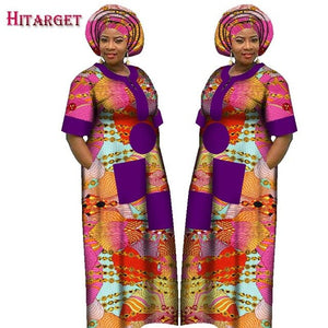 Autumn Dress for Women Dashiki Custom Made African Printed Dresses Women Comfortable Loose women