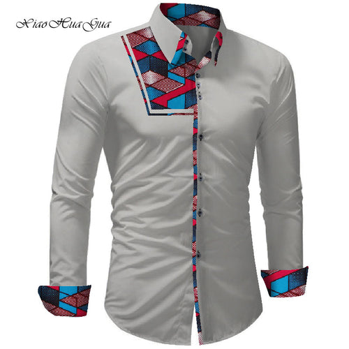 Bazin Riche Ankara African Print Causal Party Office Shirts