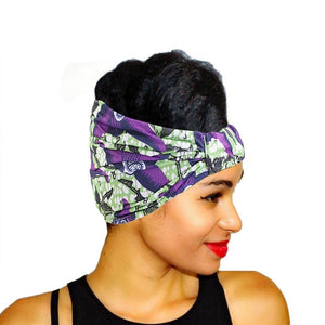 Women Ladies African Traditional Tribal Pattern Turban Headscarf Headwrap Hair Accessories