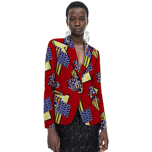 Fashion African Print Women Female Dashiki Blazers Ankara Design For Ladies Coat Africa Clothing