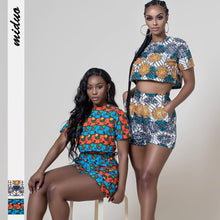 Load image into Gallery viewer, Ankara Style Bazin African Print Top Pants
