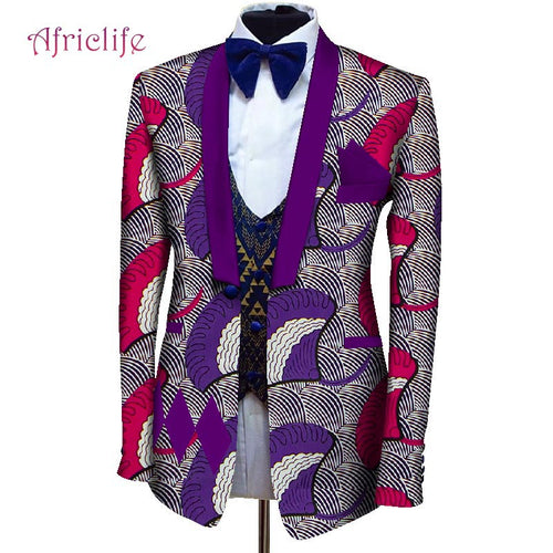 Men Dashiki Blazers African Print Jacket