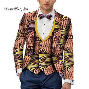 Party Wedding Traditional Tribal African Clothing Men's Printed Blazer Jacket Fashion