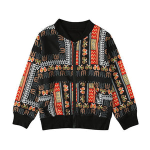 Autumn Baby Traditional Tribal African Printed Coat Toddler Kids Girl Boy Dashiki Outwear Jacket
