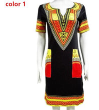 Load image into Gallery viewer, Wholesale 3XL Oversize Women Sexy Dashiki Summer Print African Dress For Women - Chocolate Boy Ltd