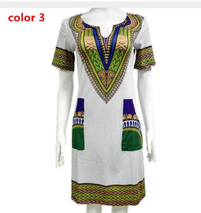 Wholesale 3XL Oversize Women Sexy Dashiki Summer Print African Dress For Women - Chocolate Boy Ltd