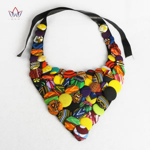 Colourful African Button Necklace African Accessories for Women