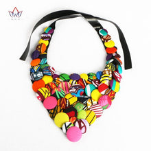 Load image into Gallery viewer, Colourful African Button Necklace African Accessories for Women