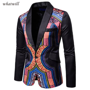 Traditional Cultural Wear Mens Africa Suit Jacket Clothing Fashion Casual Dress Robe - Chocolate Boy Ltd