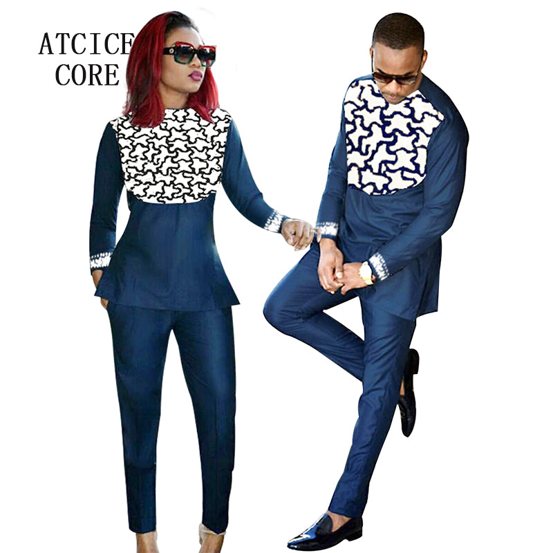african clothing for men and women african bazin riche embroidery design Couple wear - Chocolate Boy Ltd