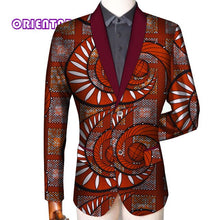 Load image into Gallery viewer, Traditional Men African Clothes Business Suit Coat African Print Slim Fit Jacket Blazer Long Sleeve - Chocolate Boy Ltd