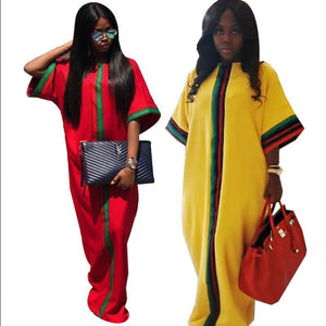 African Women Traditional Tribal Slim Sleeved Dress, New, Fashion