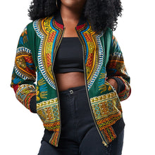 Load image into Gallery viewer, African Print Traditional Tribal Riche Jacket Women Dashiki Long Sleeve Casual Jacket