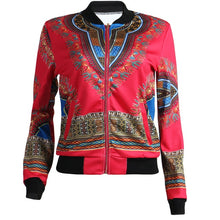 Load image into Gallery viewer, African Print Jacket Women Dashiki Long Sleeve Casual Jacket