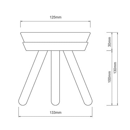 INHERENT Oreo Table Tall Small Size Guide