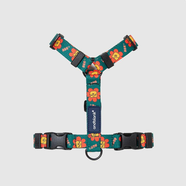 andblank Flower Lion Pet Harness - Green - CreatureLand