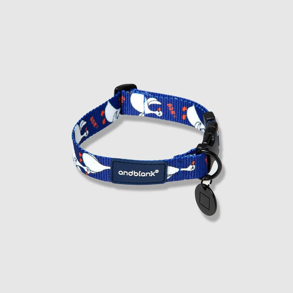 andblank Flying Duck Pet Collar - Blue - CreatureLand
