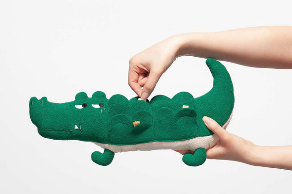 andblank Lazy Crocodile : Nose Work Toy - CreatureLand