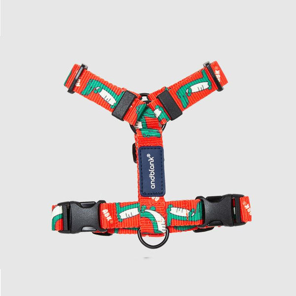 andblank Lazy Crocodile Pet Harness - Tangerine - CreatureLand