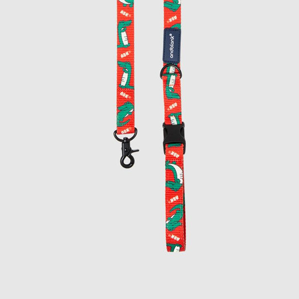 andblank Lazy Crocodile Pet Leash - Tangerine - CreatureLand