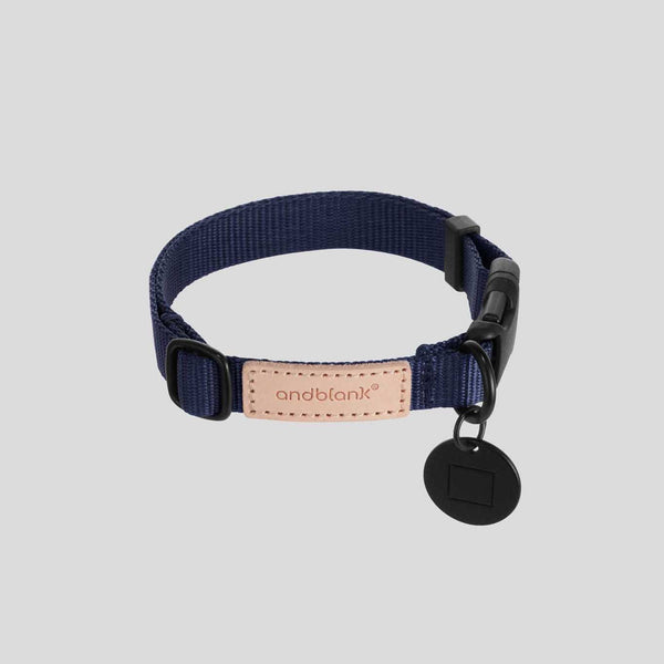 andblank Pet Collar - Navy - CreatureLand