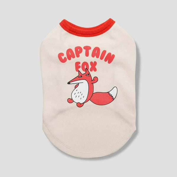andblank [ Pre-order ] Captain Fox Sleeveless Shirt - Beige - CreatureLand