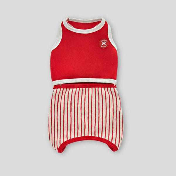 andblank Stripes Romper - Red - CreatureLand
