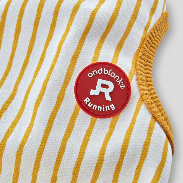 andblank Stripes Romper - Yellow - CreatureLand