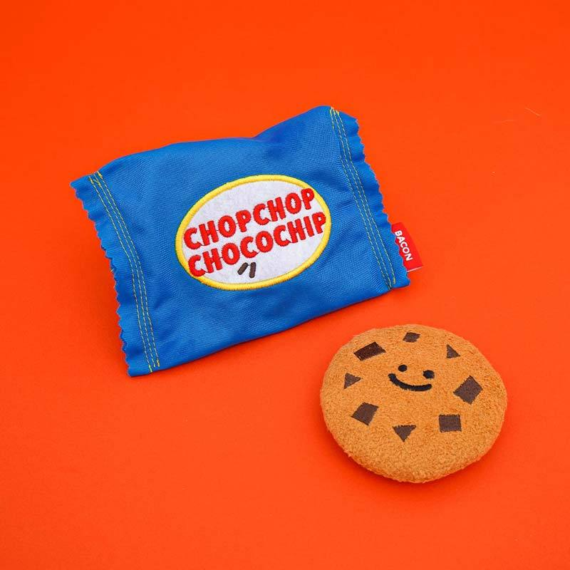 BACON Choco Chip Cookie Dog Toy - CreatureLand