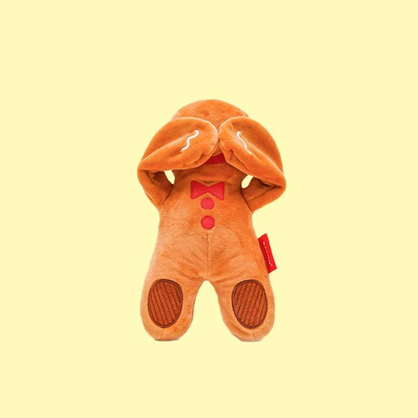 BACON Gingerbread Man Peekaboo Dog Toy - CreatureLand