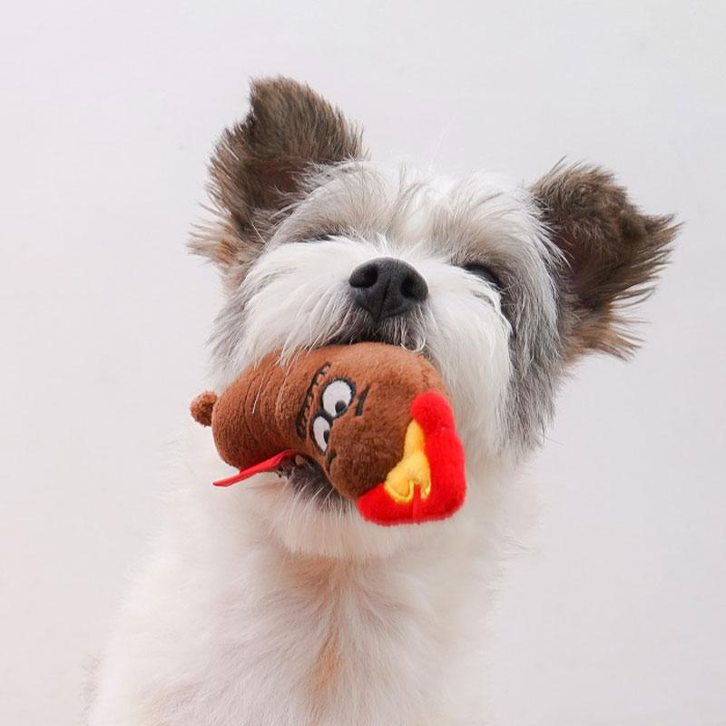 BACON Sausage Friend Dog Toy - CreatureLand