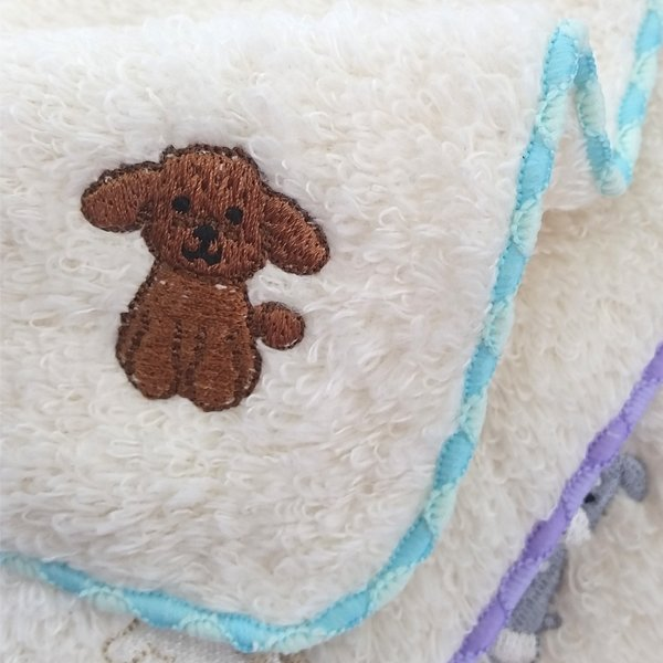 Bestever Embroidered Towel Handkerchief - Poodle - CreatureLand