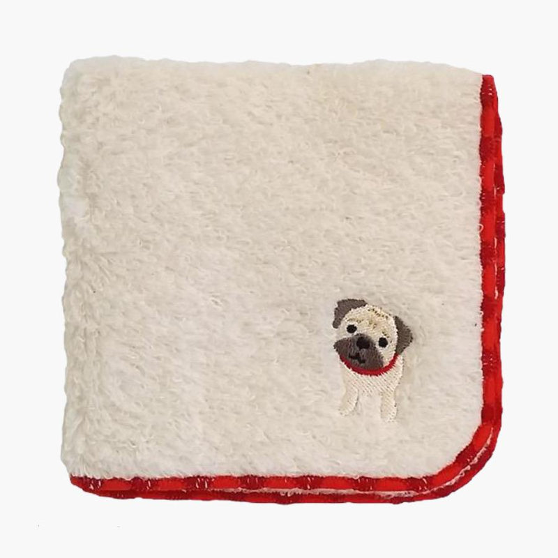 Bestever Embroidered Towel Handkerchief - Pug - CreatureLand